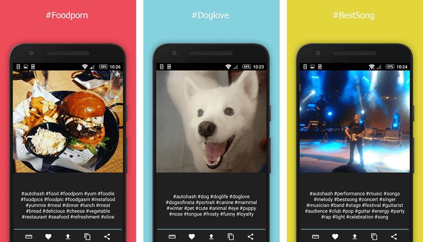 autohash app presentation as a hashtag generator for Instagram posts