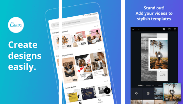 canva app presentation as an image editor for Instagram posts