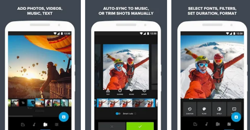 GoPro quik app presentation as a video editor for Instagram posts