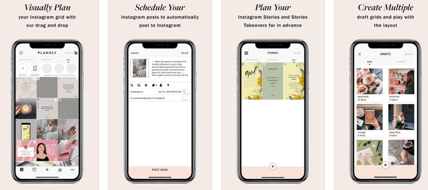 planoly app presentation as a post planning platform for Instagram posts